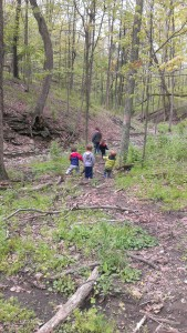 nature explorers in outdoor education